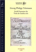Twelve Fantasias for Viola da Gamba solo TWV 40 : 26-37 laflutedepan.com