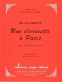 Une Clarinette à Paris - Gilles Martin - Partition - laflutedepan.com