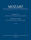 Quintett für Klarinette, 2 Violinen, Viola Und Violoncello. Urtext. laflutedepan.com