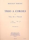 Trio à cordes -Conducteur + parties Bohuslav Martinu laflutedepan.com
