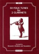 30 Folk tunes for 2 clarinets Partition laflutedepan.com