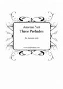 3 Préludes - Basson seul Anselma Veit Partition laflutedepan.com