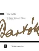 18 Duos pour 2 flutes BARTOK Partition laflutedepan.com