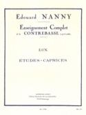 10 Etudes-Caprices - Contrebasse Edouard Nanny laflutedepan.com