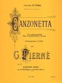 Canzonetta op. 19 - Gabriel Pierné - Partition - laflutedepan.com