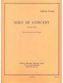 Solo de concert op. 35 - Gabriel Pierné - Partition - laflutedepan.com