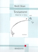 Testament Brett Dean Partition Grand format - laflutedepan.com