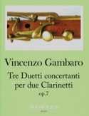 3 Duos Concertants, op. 7 Vincenzo Gambaro Partition laflutedepan.com