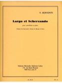 Largo et Scherzando Victor Serventi Partition laflutedepan.com