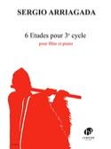 6 Etudes pour 3e Cycle Sergio Arriagada Partition laflutedepan.com