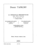 La Grenouille Présomptueuse Dimitri Tapkoff Partition laflutedepan.com