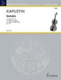Sonate, opus 70 Nikolai Kapustin Partition Violon - laflutedepan.com