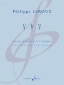 VVV Philippe Leroux Partition Violon - laflutedepan.com
