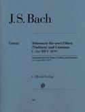 Sonate en trios en Sol majeur BWV 1039 pour deux flûtes et basse continue laflutedepan.com