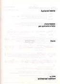 Ricorrenze - Quintetto fiati - Stimmen Luciano Berio laflutedepan.com