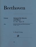 Quintette en Mi bémol majeur op. 16 pour piano, hautbois, clarinette, cor, basso laflutedepan.com