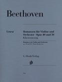 Romances en Sol majeur op. 40 et en Fa majeur op. 50 pour violon et orchestre laflutedepan.com
