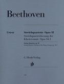 Quatuors à cordes op. 18 n° 1-6 BEETHOVEN Partition laflutedepan.com