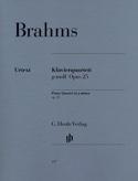 Quatuor avec piano en sol mineur op. 25 BRAHMS laflutedepan.com
