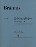 Trio en la mineur op. 114 pour piano, clarinette (ou alto) et violoncelle laflutedepan.com