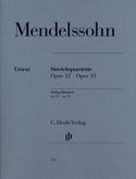 Quatuors à cordes op. 12 et 13 MENDELSSOHN Partition laflutedepan.com