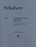 Sonatines pour violon op. post. 137 SCHUBERT laflutedepan.com