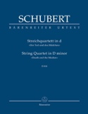 Quatuor - La Jeune Fille et la Mort SCHUBERT laflutedepan.com