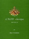 L'Alto classique – Volume B - Henri Classens - laflutedepan.com