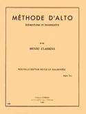 Méthode d'alto Henri Classens Partition Alto - laflutedepan.com