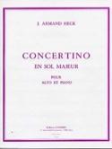 Concertino en sol majeur op. 40 - J. Armand Heck - laflutedepan.com