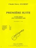 Suite n° 1 en mi mineur Claude-Henry Joubert laflutedepan.com