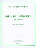 Solo de Concours - H. Lacourt-Wolff - Partition - laflutedepan.com