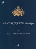 La Clarinette Classique Volume B Jacques Lancelot laflutedepan.com