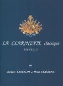La Clarinette Classique Volume D Lancelot / Classens laflutedepan.com