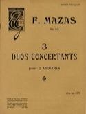 3 Duos Concertants Pour 2 Violons F Mazas Partition laflutedepan.com