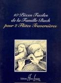 10 Pièces faciles de la Famille Bach - 2 Flûtes laflutedepan.com