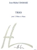 Trio - 2 Flûtes piano Jean-Michel Damase Partition laflutedepan.com