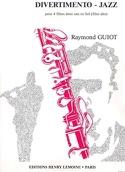 Divertimento-Jazz - 4 Flûtes Raymond Guiot Partition laflutedepan.com
