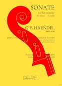 Sonate en sol mineur - 2 Cellos piano HAENDEL laflutedepan.com