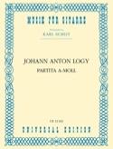 Partita A-Moll -guitarre Johann Anton Logy Partition laflutedepan.com