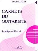 Carnets du Guitariste - Volume 4 - Yvon Rivoal - laflutedepan.com