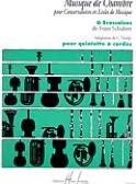 6 Ecossaises - Quintette à cordes SCHUBERT Partition laflutedepan.com