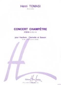 Concert champêtre -Conducteur + parties Henri Tomasi laflutedepan.com