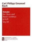 Sonate g-moll Wq 135 –Hautbois et basse continue - laflutedepan.com