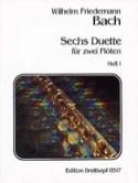 6 Duette, Heft 1 - 2 flutes Wilhelm Friedemann Bach laflutedepan.com