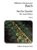 6 Duette, Heft 2 - 2 Flöten Wilhelm Friedemann Bach laflutedepan.com