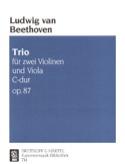 Trio C-dur op. 87 - Stimmen BEETHOVEN Partition laflutedepan.com