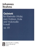 Quintett h-moll op. 115 - Klarinette (Viola) 2 Violinen Viola Cello - Stimmen laflutedepan.com