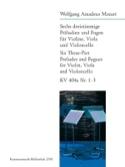 6 Dreistimmige Präludien & Fugen Kv 404a -1-3 MOZART laflutedepan.com