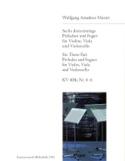 6 Dreistimmige Präludien & Fugen Kv 404a -4-6 MOZART laflutedepan.com